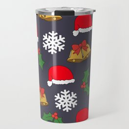 Jingle Bells Christmas Collage Travel Mug