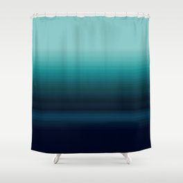 Teal to Indigo Ombre Design Shower Curtain
