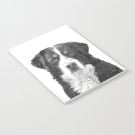 Black and White Bernese Mountain Dog Notebook