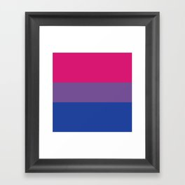 Bisexual Flag Framed Art Print