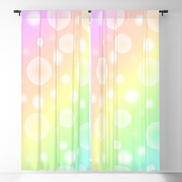 Pastel Rainbow Gradient With Bubbles! Blackout Curtain