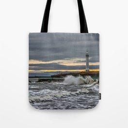 Seaburn and Roker Lighthouses Tote Bag