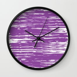 Painted Strokes-Purple Wall Clock