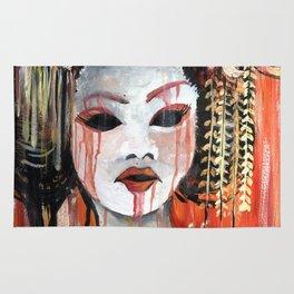 Geisha in Autumn Rain: The Innocent Concubine Rug