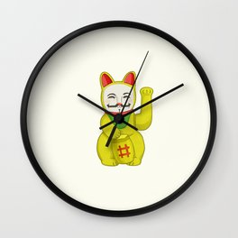 Occupy Lucky Cat Wall Clock