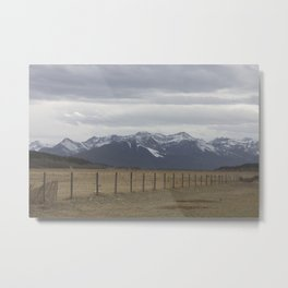 Prairies and mountains Metal Print