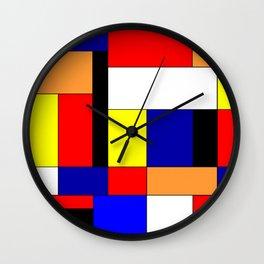 Mondriaan #9 Wall Clock