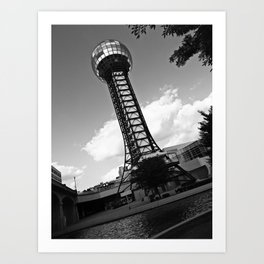 Knoxville Sunsphere Art Print