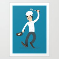 chef Art Prints featuring Chef by bluespore