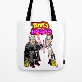 TOTES MAGOATS!  James Earl Jones and Malcolm McDowell, stars of Sprint Ads Tote Bag