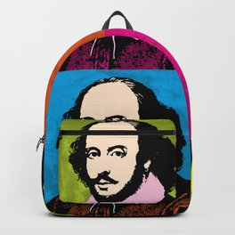 WILLIAM SHAKESPEARE (4-UP POP ART COLLAGE) Backpack