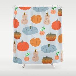 Pumpkin patch delight Shower Curtain