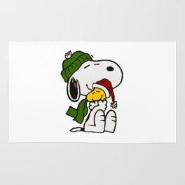 Christmas snoopy Rug