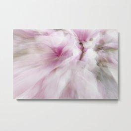 Pink Magnolia Swirl Metal Print