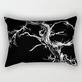 Tree (Black & White) Rectangular Pillow