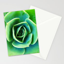 Bright Green Succulent Stationery Cards
