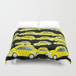 Yellow Taxi Cab Duvet Cover