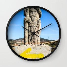 Camino de Santiago Marker Wall Clock