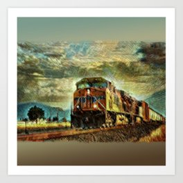 Observance Valley Freight Line Art Print