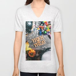 Halloween: Trick Or Treat For Autumn Fun Unisex V-Neck