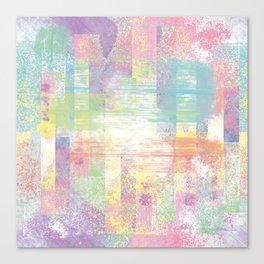 Happy pastel colors Canvas Print