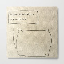 Happy graduation Metal Print