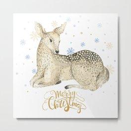 Christmas deer #1 Metal Print