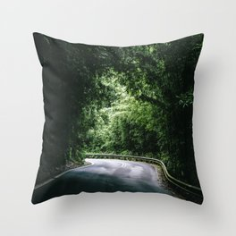 Driving the Hana Highway Throw Pillow
