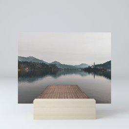 Lake Bled and Castle, Slovenia Mini Art Print