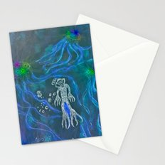 Jellyfish Diver Stationery Cards