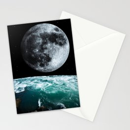 Moon and Earth   Waves   Ocean   Power   Spirituality   Cosmos   Space   Stars Stationery Cards