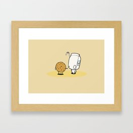 cookies love cream Framed Art Print