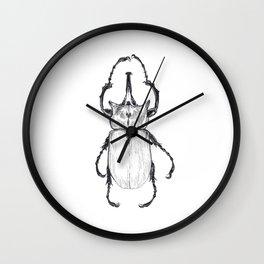 Elephant Beetle Specimen Wall Clock