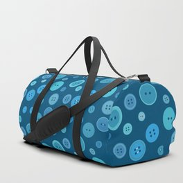 Blue Buttons Duffle Bag