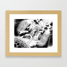 Wrath of the Storm Mage Framed Art Print