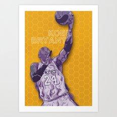 Bleed Purple and Gold Art Print