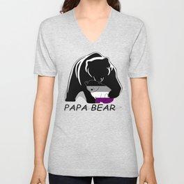 Papa Bear Asexual Unisex V-Neck