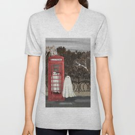 There Are Ghosts in the Phone Box Again... Unisex V-Neck