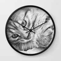 kitten Wall Clocks featuring Kitten by Olechka