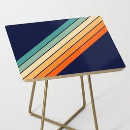 Farida - 70s Vintage Style Retro Stripes Side Table