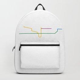 Minimalist TTC Subway Map Backpack