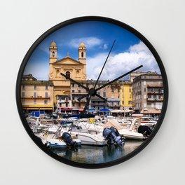 église Saint Jean-Baptiste in Bastia Wall Clock