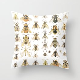 flying insects Throw Pillow
