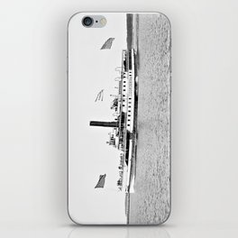 Ticonderoga Steamer on Lake Champlain iPhone Skin