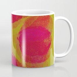 green lemon and pink flowers pattern Coffee Mug