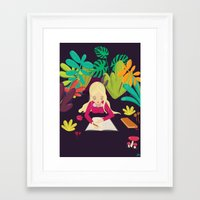 writing Framed Art Prints featuring Writing by Monique Gabrielle