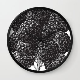 Engraved Blackberry Wall Clock