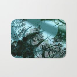 Fruitful Abstract Fractal Art Bath Mat