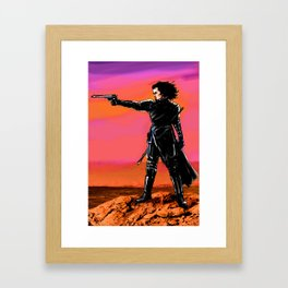 Ragnarok with gun Framed Art Print