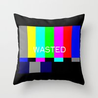 wasted rita Throw Pillows featuring Wasted by Λdd1x7